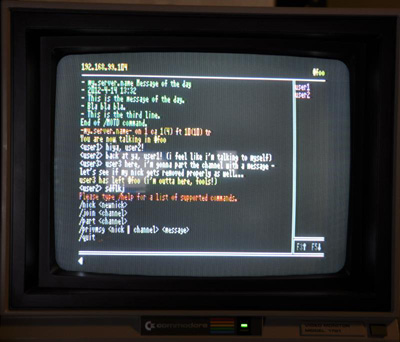 Commodore Flyer IRC Client